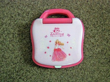 Barbie 12 Dancing Princesses Small Pink Laptop Computer #600580