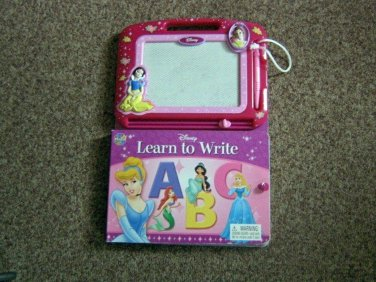 Disney Princess Learn to Write Book with Erasable Magnetic Drawing Pad #600443