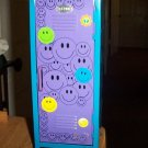 "SALE ITEM Barbie Doll Sized Happy Faces Metal School Locker 11""x4""x4"" #600645"
