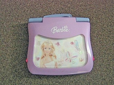 Pink Barbie B-Bright Learning Laptop Computer Electronic Learning Carry Handle#600581