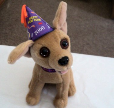 """6"""" Plush Official Talking Taco Bell Chihuahua Dog Says Happy New Year Amigos  #600663"""
