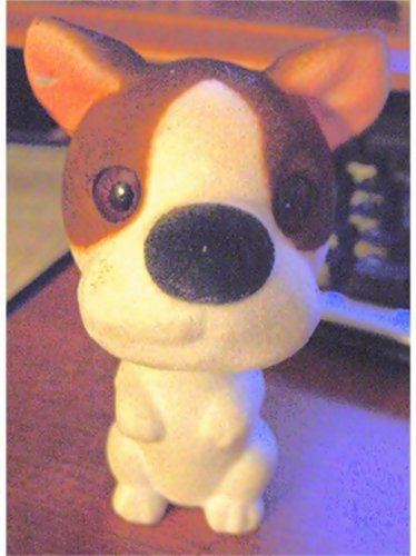 Bobble Head Nodder Fuzzy Puppy Brown and White  #600134