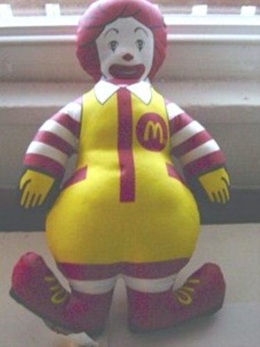 "1984 12"" Ronald McDonald Cloth Doll #600567"