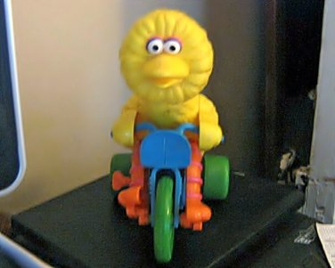 Vintage Sesame Street Big Bird on Tricycle Toy from ILLCO #600641