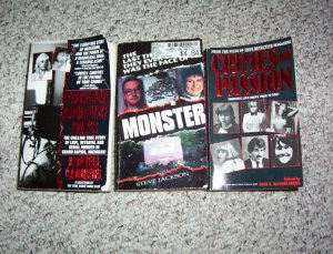 3 True Crime book lot Forever and Five Days, Crimes of Passion and Monster paperback