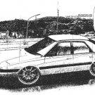Mazda Astina 1989 drizzle Car Tees