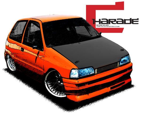Daihatsu charade draw Car Tees