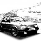 Ford granada 1984 Retro Car Tees