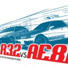 Nissan Skyline R32 VS. Toyota Corolla AE86 Car Tees