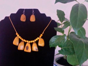 Necklace & Earrings- Yellow