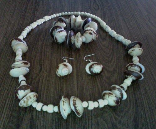 Necklace, Bracelet & Earrings- Beach Wedding Set