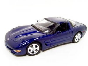 CHEVROLET CORVETTE C5 COUPE BLUE 1:18 DIECAST MODEL BURAGO