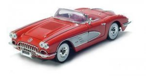 1958 CHEVROLET CORVETTE 1/18 DIECAST MODEL RED