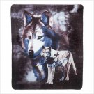 WILDLIFE WOLVES FLEECE BLANKET