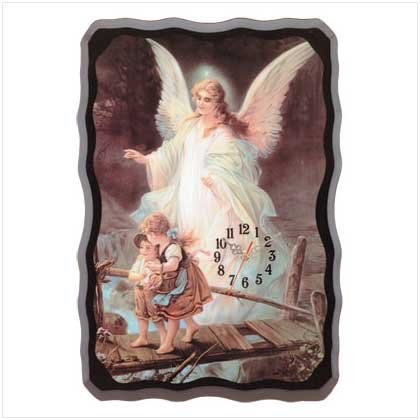 GUARDIAN ANGEL WALL CLOCK  (FREE SHIPPING)