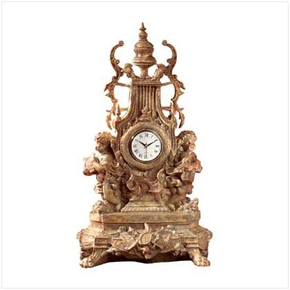 BAROQUE CHERUB CLOCK  (FREE SHIPPING & ON SALE ORIGINALLY 99.95)