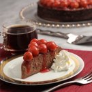 FUDGEY CHEESCAKE W/ CHERRY SAUCE  ~  YUMMY!!! ~