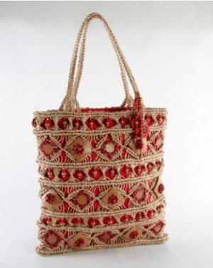 Fiji - Red Large Tote Bag