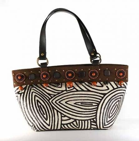 Gypsy - Small Tote Bag w/ Flat Leather Handle