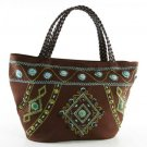 Tangier - Choco Brown Tote Bag
