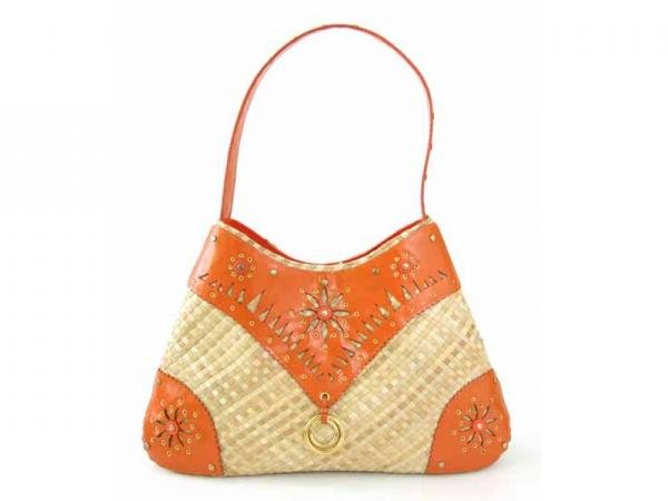 Antibes - Hobo Bag w/ Gold Metal Stud Embellishment
