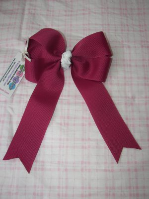 A22- Maroon Large Tails Boutique Bow
