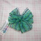 C22- Blue and Green Pinwheel Bow