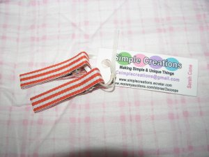 A51- Orange Striped Simple Clip Set