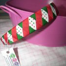 B59- Red/Green  Polkadot Christmas Woven Headband