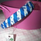 B14- Blue and White Snowflake Woven Headband