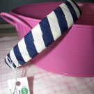 B10- White and Navy Blue Woven Headband