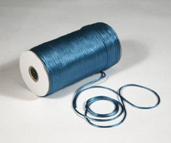 "1/8"" Antique Blue Satin Rat Tail Cord - 200 yds"