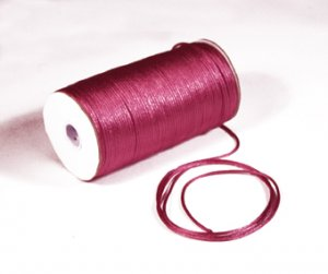 "1/8"" Hot Pink Satin Rat Tail Cord - 200 yds"