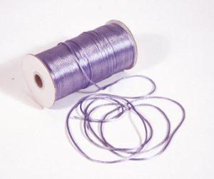 "1/8"" Lavender Satin Rat Tail Cord - 200 yds"