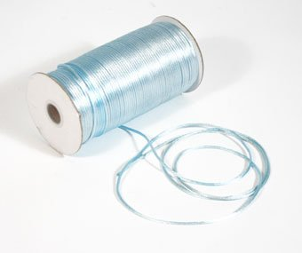 "1/8"" Light Blue Satin Rat Tail Cord - 200 yds"