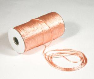 "1/8"" Light Peach Satin Rat Tail Cord - 200 yds"