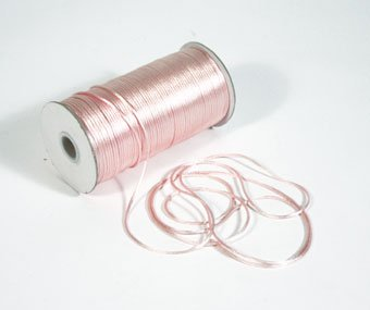 """1/8"""" Light Pink Satin Rat Tail Cord - 200 yds"""