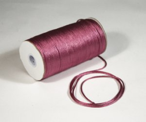 "1/8"" Mauve Satin Rat Tail Cord - 200 yds"