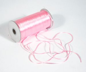 "1/8"" Pink Satin Rat Tail Cord - 200 yds"