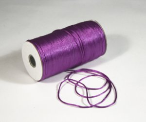 "1/8"" Purple Satin Rat Tail Cord - 200 yds"