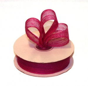 "7/8"" Hot Pink Jute Burlap Ribbon - 10 yds"
