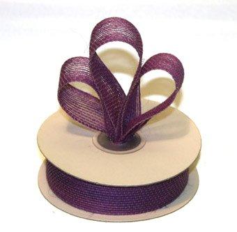 "7/8"" Purple Jute Burlap Ribbon - 10 yds"