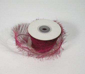"1-1/2"" Fuchsia Wired Eyelash Ribbon - 10 yds"