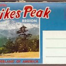 ca 1950 PIKES PEAK REGION SOUVENIR POSTCARD FOLDER