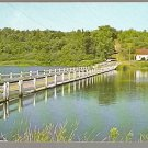 FLOATING BRIDGE BROOKFIELD VERMONT ca 1960 POSTCARD