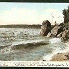 CENTENIAL ROCK LAKE ALAMOOSOOK ORLAND MAINE 1906 POSTCARD