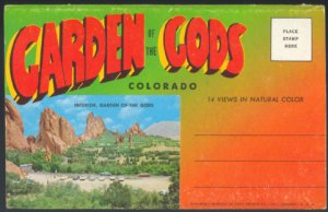 GARDEN OF THE GODS COLORADO SPRINGS 1950 SOUVENIR POSTCARD FOLDER