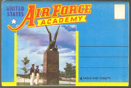 U.S. AIR FORCE ACADEMY USAF 1960 SOUVENIR PHOTO FOLDER POSTCARD