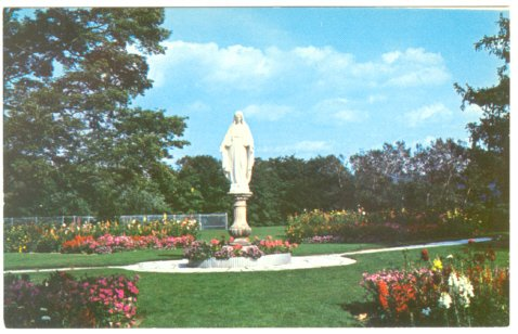 OUR LADYs SHRINE CRANWELL SCHOOL LENOX MA 1960 POSTCARD