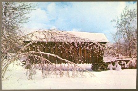 WINTER SPLENDOR AND A VERMONT COVERED BRIDGE POSTCARD
